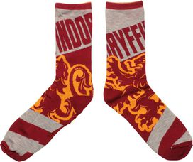 Harry Potter Gryffindor Reversible Crew Socks