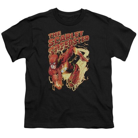 Jla Scarlet Speedster Short Sleeve Youth T-Shirt