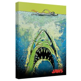 Jaws Attack Canvas Wall Art With Back Board