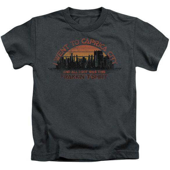 Bsg Caprica City Short Sleeve Juvenile Charcoal T-Shirt