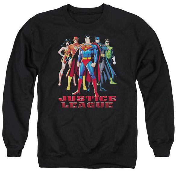 Jla In League Adult Crewneck Sweatshirt