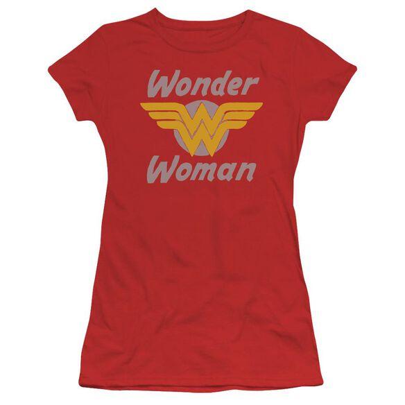 Dc Wonder Wings Short Sleeve Junior Sheer T-Shirt