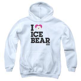 We Bare Bears Heart Ice Bear Youth Pull Over Hoodie
