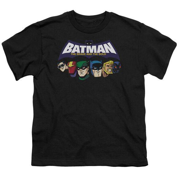 Batman Bb Head Lineup Short Sleeve Youth T-Shirt