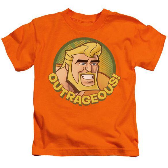 Batman Bb Outrageous Short Sleeve Juvenile Orange T-Shirt