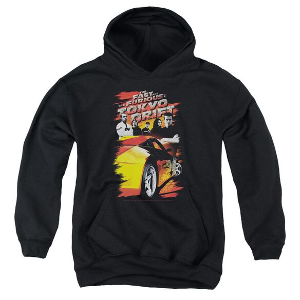 Tokyo Drift Drifting Crew Youth Pull Over Hoodie