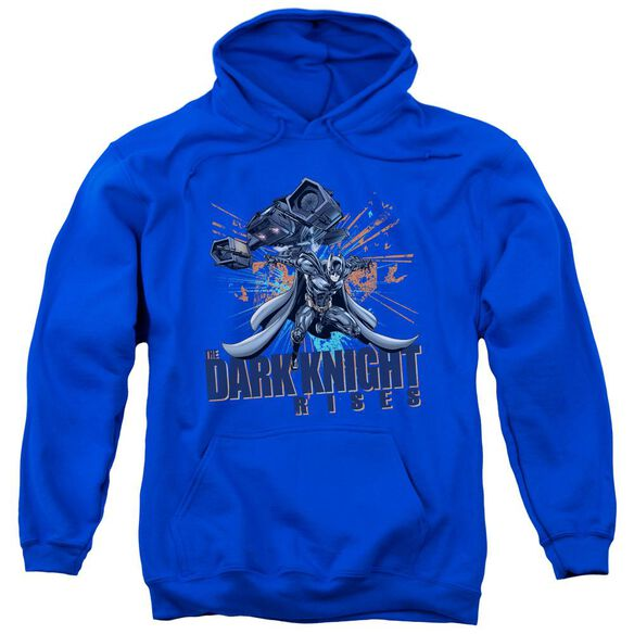Dark Knight Rises Batwing Adult Pull Over Hoodie Royal