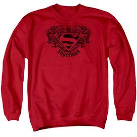 Superman Superman Dragon - Adult Crewneck Sweatshirt - Red