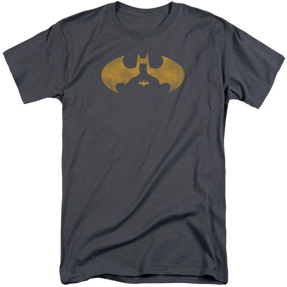 Batman Bat Symbol Knockout Short Sleeve Adult Tall T-Shirt