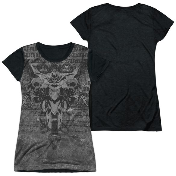 Batman Ride Free Short Sleeve Junior Poly Black Back T-Shirt