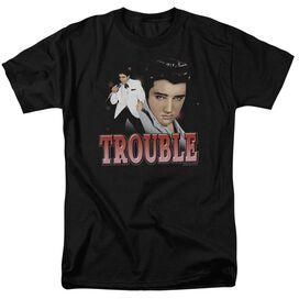 Elvis Trouble Short Sleeve Adult T-Shirt
