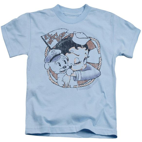 Betty Boop S.S. Vintage Short Sleeve Juvenile Light Blue T-Shirt