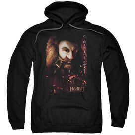 The Hobbit Gloin Poster Adult Pull Over Hoodie Black