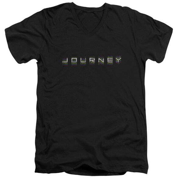 Journey Repeat Logo Short Sleeve Adult V Neck T-Shirt