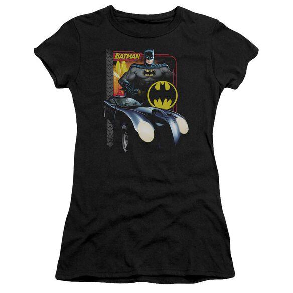 Batman Bat Racing Short Sleeve Junior Sheer T-Shirt