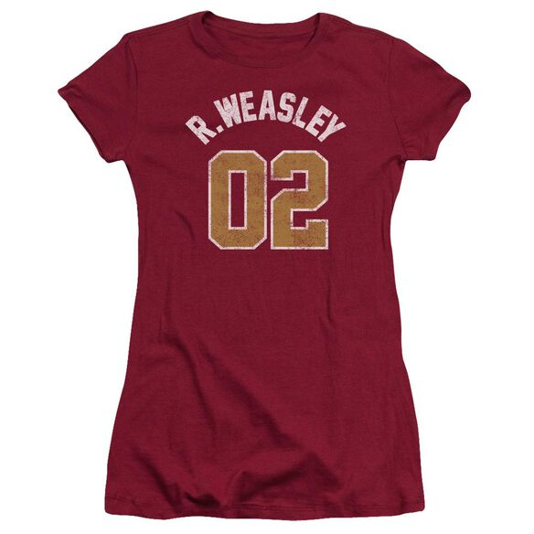 Harry Potter Weasley Jersey Hbo Short Sleeve Junior Sheer T-Shirt