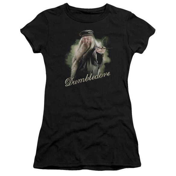 Harry Potter Dumbledore Wand Hbo Short Sleeve Junior Sheer T-Shirt