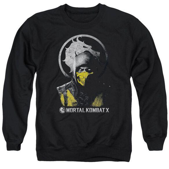 Mortal Kombat X Scorpion Bust Adult Crewneck Sweatshirt
