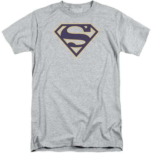 Superman Navy & Gold Shield Short Sleeve Adult Tall Athletic T-Shirt
