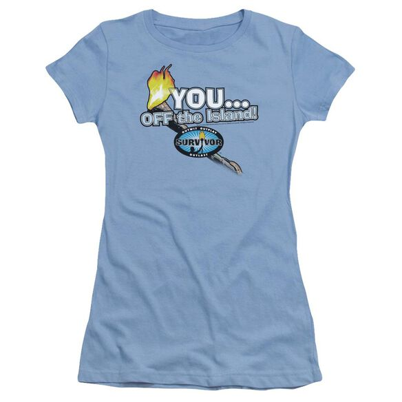 Survivor You Off The Island Short Sleeve Junior Sheer Carolina T-Shirt