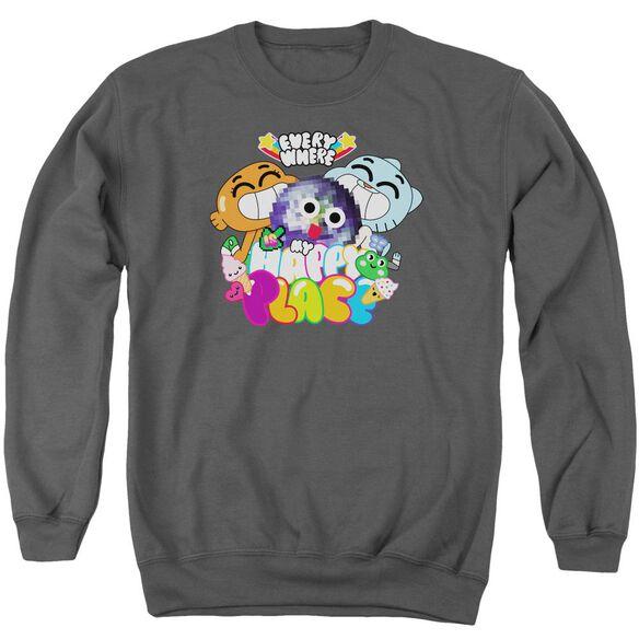 Amazing World Of Gumball Happy Place Adult Crewneck Sweatshirt