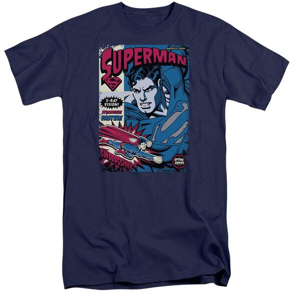 Superman Action Packed Short Sleeve Adult Tall T-Shirt