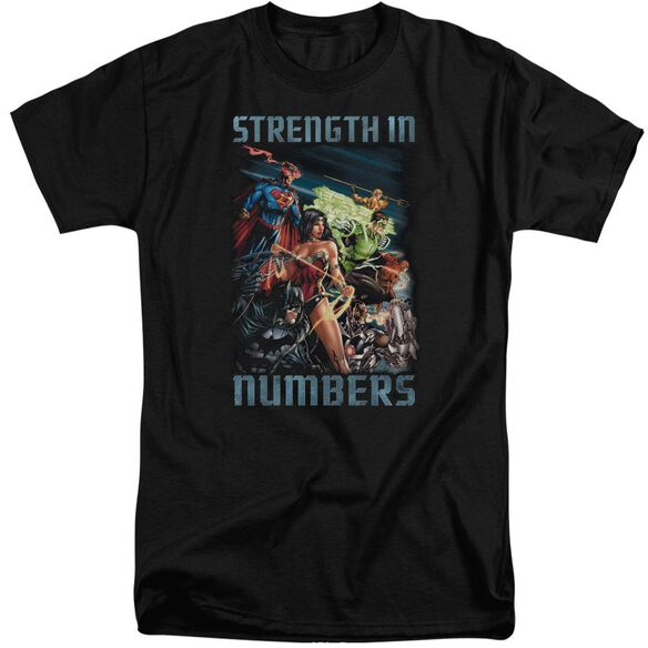 Jla Strength In Number Short Sleeve Adult Tall T-Shirt