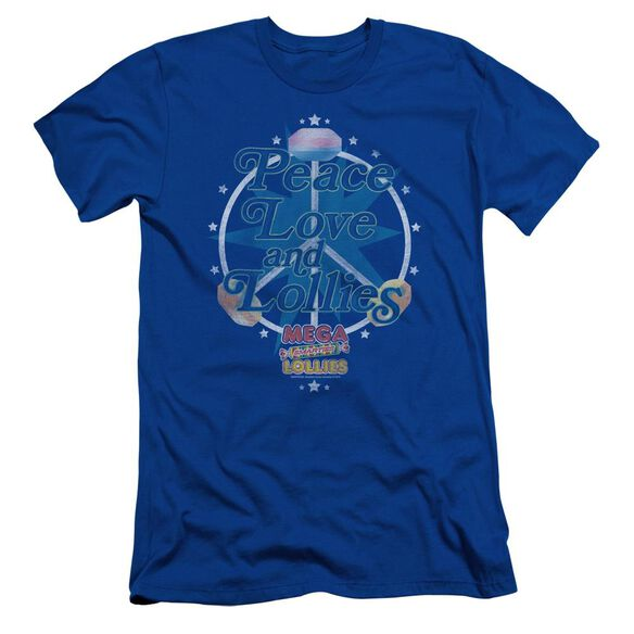 Smarties Peace Lollies Short Sleeve Adult Royal T-Shirt