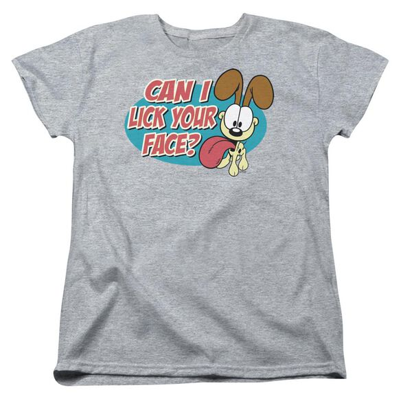 Garfield Question Short Sleeve Womens Tee Athletic T-Shirt