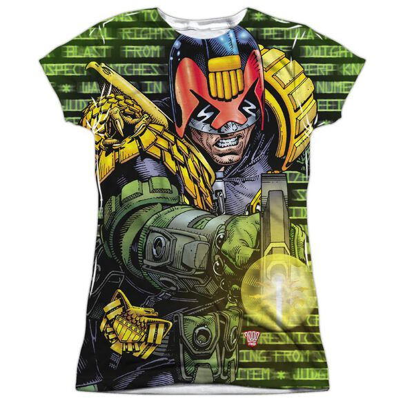 Judge Dredd Matrix Short Sleeve Junior Poly Crew T-Shirt