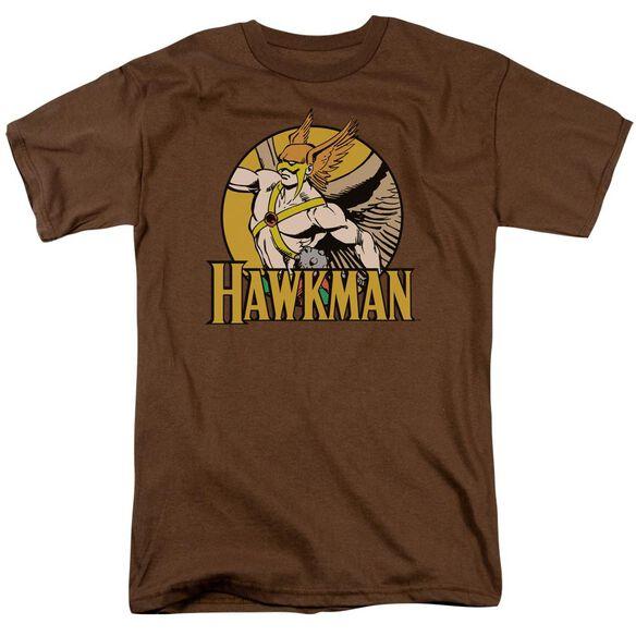 Dc Hawkman Short Sleeve Adult Coffee T-Shirt
