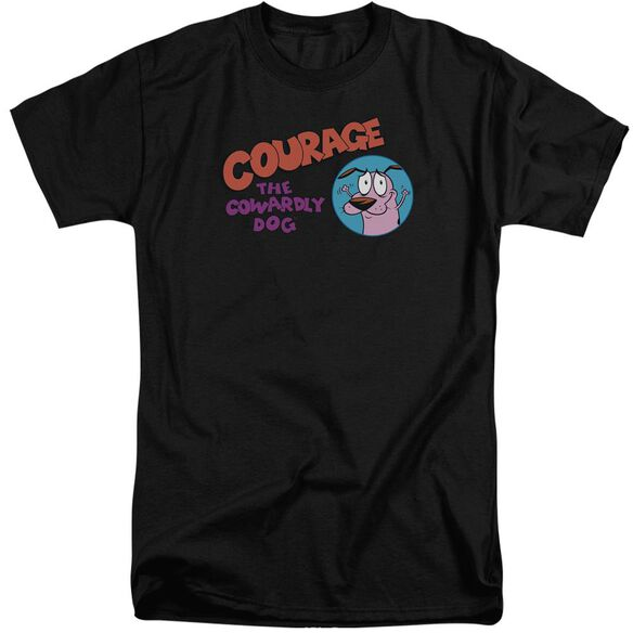 Courage The Cowardly Dog Courage Logo Short Sleeve Adult Tall T-Shirt