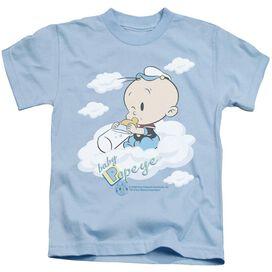 Popeye Baby Clouds Short Sleeve Juvenile Light Blue T-Shirt