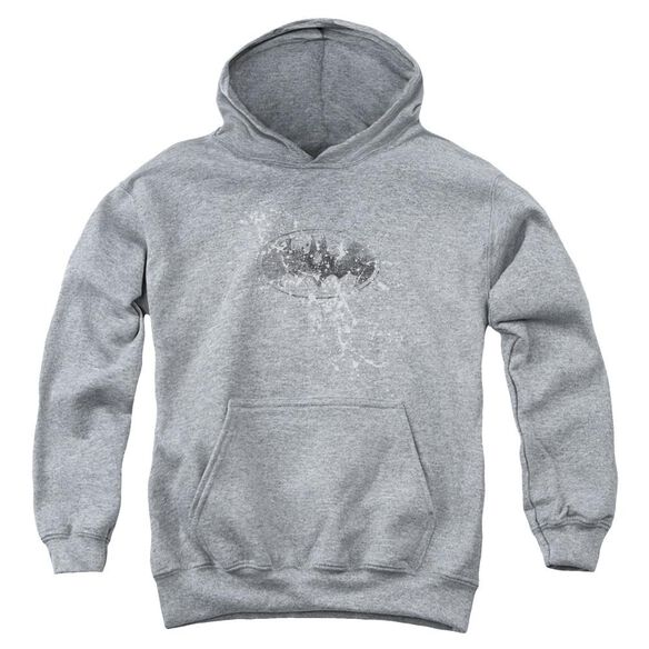 Batman Burned & Splattered Youth Pull Over Hoodie Athletic