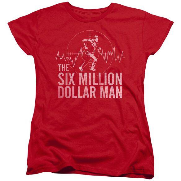 Six Million Dollar Man Target Short Sleeve Womens Tee T-Shirt