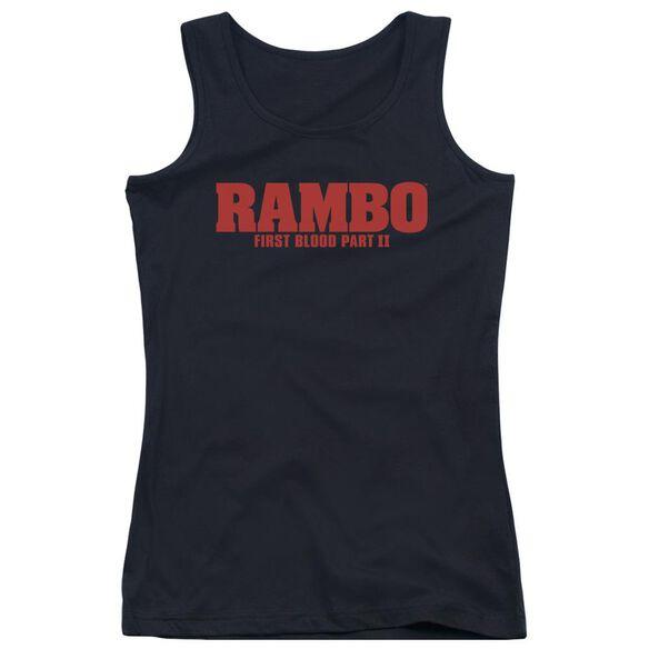 Rambo:First Blood Ii Logo Juniors Tank Top