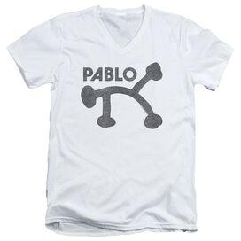PABLO RETRO PABLO - S/S ADULT V - NECK 30/1 - WHITE T-Shirt