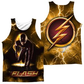 The Flash Bolt (Front Back Print) Adult 100% Poly Tank Top