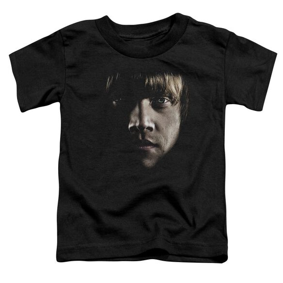 Harry Potter Ron Poster Head Short Sleeve Toddler Tee Black T-Shirt