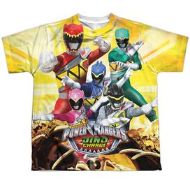 Power Rangers Charged For Battle Short Sleeve Youth Poly Crew T-Shirt