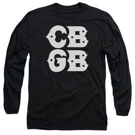 Cbgb Stacked Logo Long Sleeve Adult T-Shirt