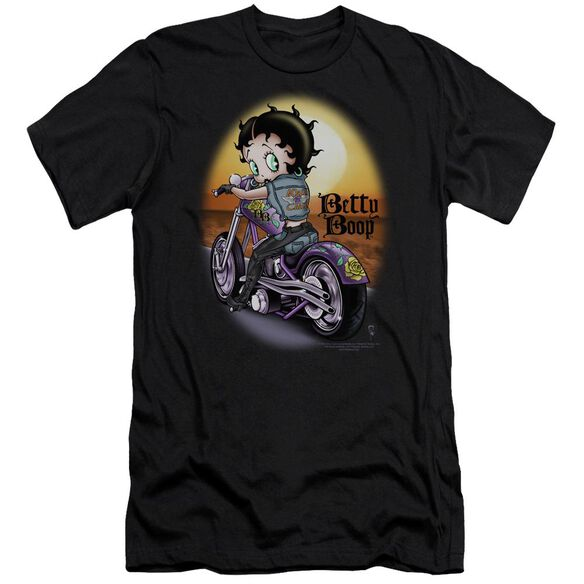 Betty Boop Wild Biker Premuim Canvas Adult Slim Fit