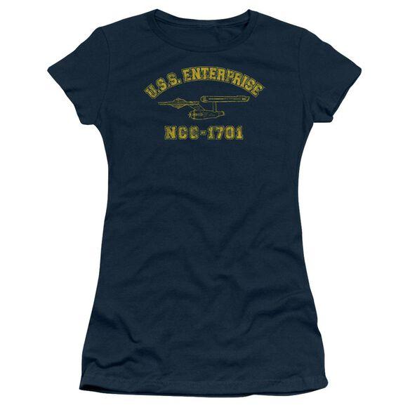 Star Trek Enterprise Athletic Short Sleeve Junior Sheer T-Shirt