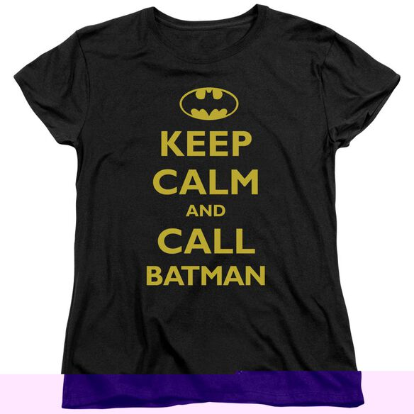 Batman Call Batman Short Sleeve Womens Tee T-Shirt