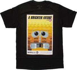Wall E Brighter Future Poster T-Shirt Sheer