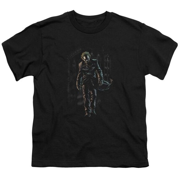 Batman Joker Leaves Arkham Short Sleeve Youth T-Shirt