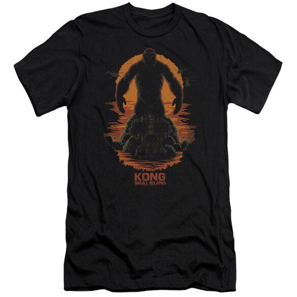 Kong Skull Island Kong Silhouette Hbo Short Sleeve Adult T-Shirt