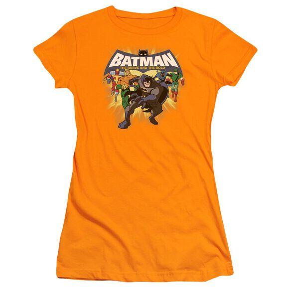 Batman Bb A Bold Force Short Sleeve Junior Sheer T-Shirt