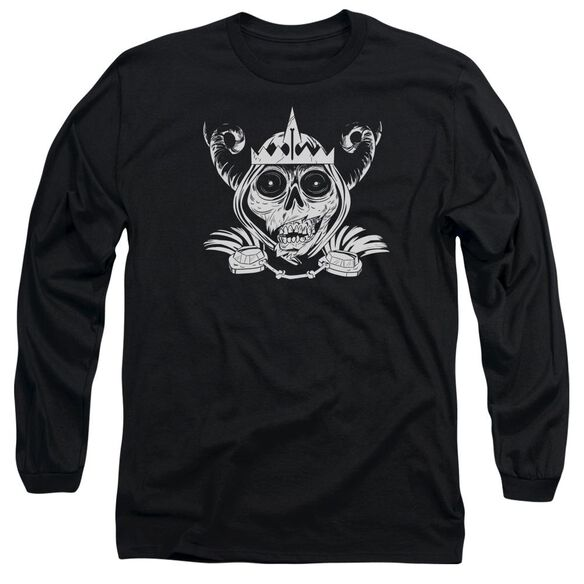 Adventure Time Skull Face Long Sleeve Adult T-Shirt