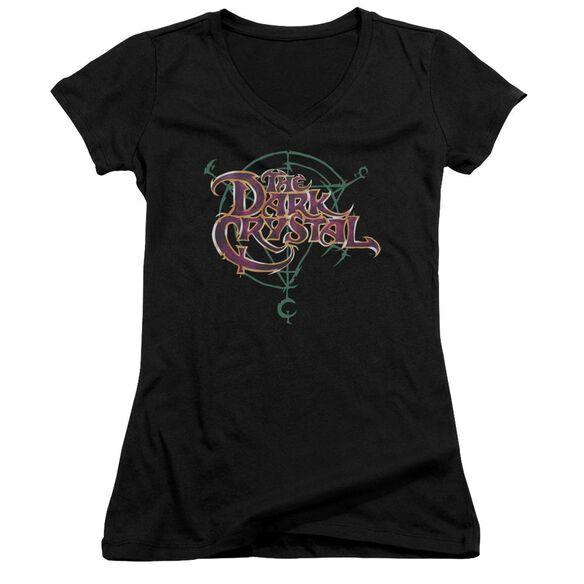 Dark Crystal Symbol Logo Junior V Neck T-Shirt